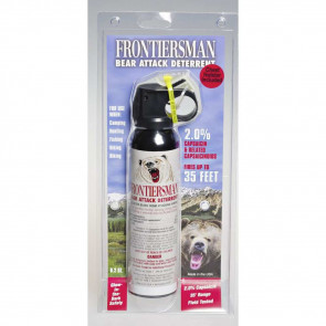 Sabre Frontiersman Bear Spray 9.2oz w/ chest holster - Click Image to Close